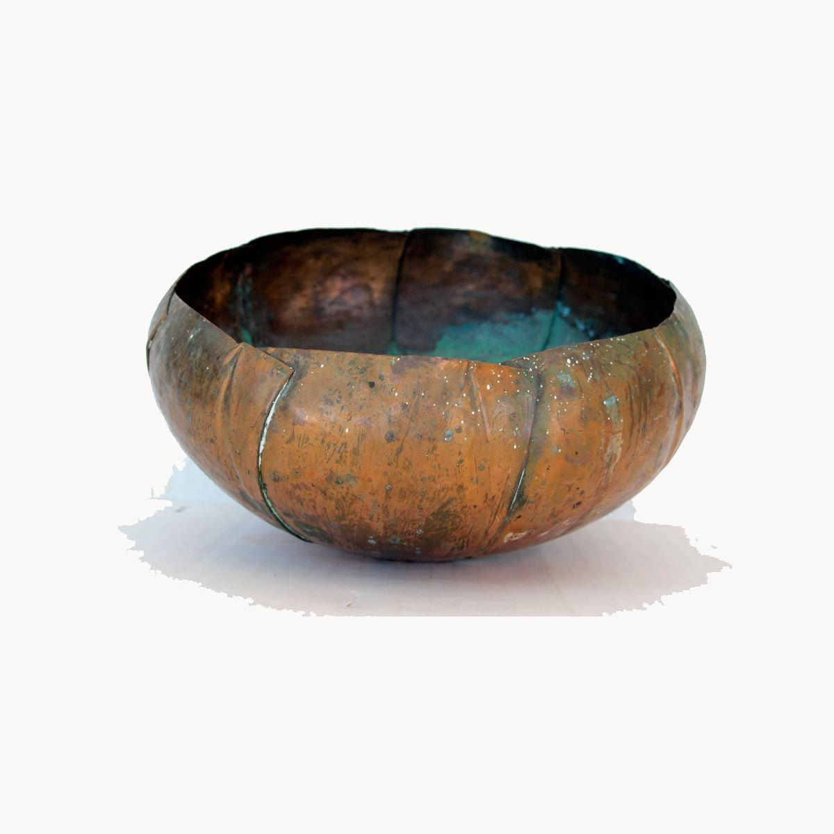 Old Copper Bowl Lovely Patina Hand Forged Copper Flower Bowl Etsy Copper Bowl Bowl Flower Bowl