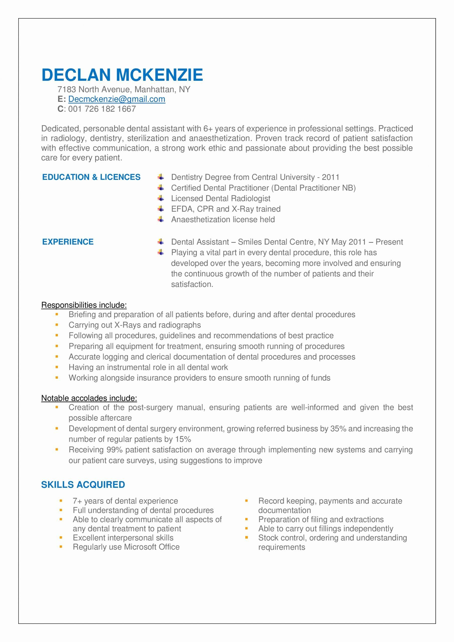 Example Of Dental Assistant Resume Inspirational Sample Dental Assistant Resume Help I Medical Assistant Resume Resume Examples Dental Assistant Cover Letter