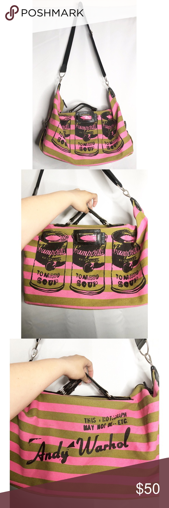 Andy Warhol Campbell Duffle Bag Overnight Tote Bags Overnight Totes Duffle Bag