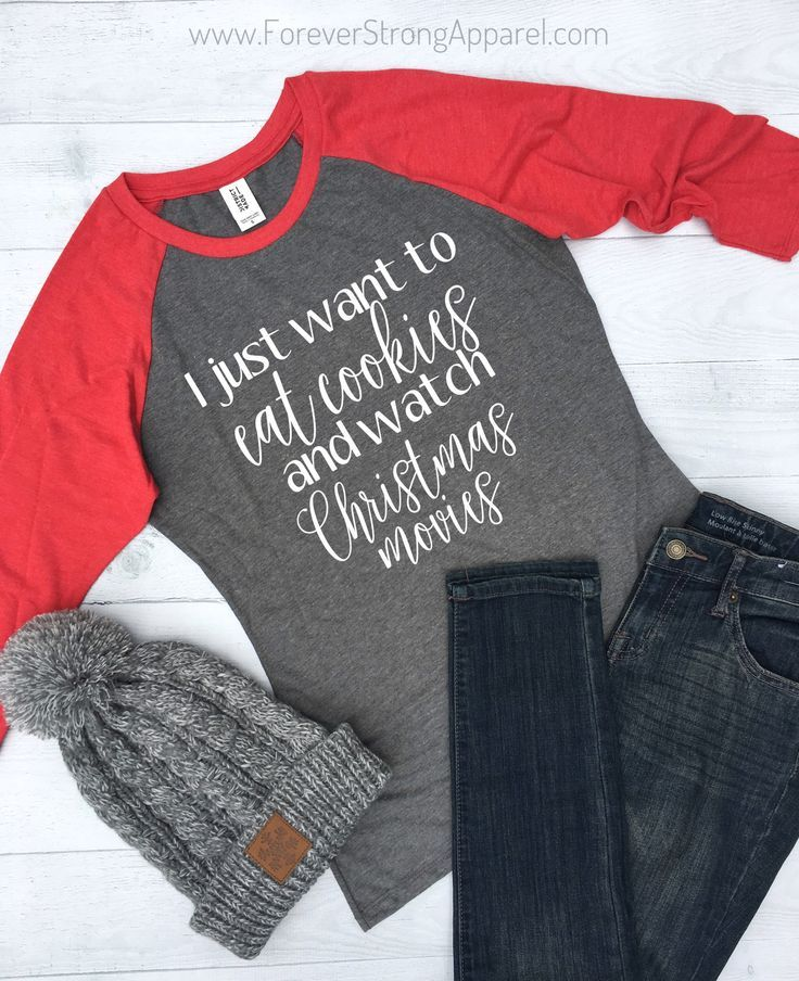 I Just Want to Eat Cookies Christmas Raglan