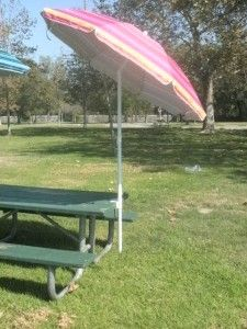 Umbrella Clamp For Bleachers And Benches