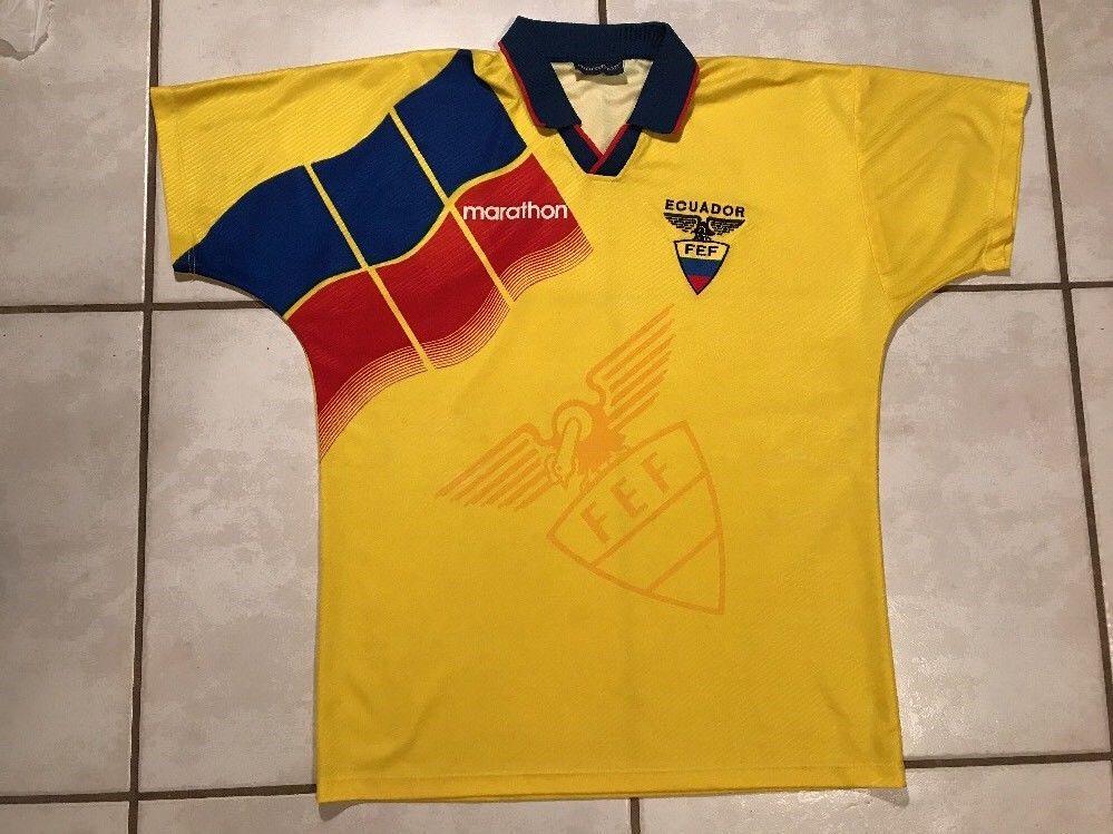 Rare MARATHON Ecuador National Team Soccer Jersey Men's