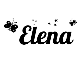 Vinilos elena dise o pinterest vinilos nombres y for Pegatinas pared nombres