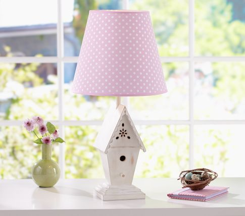 Polka Dot Shade Birdhouse Base Pottery Barn Kids Bird Houses
