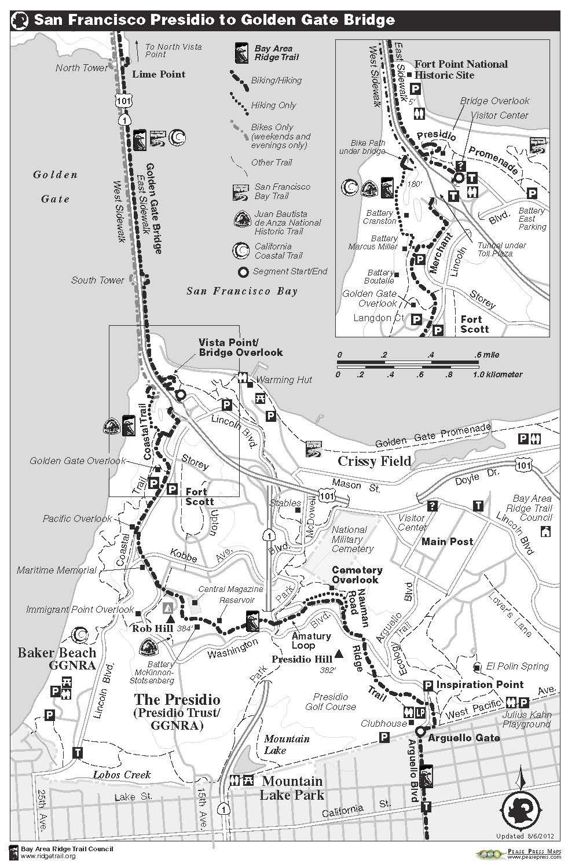 Ridge Trail Hikes SF Presidio Regional Activities