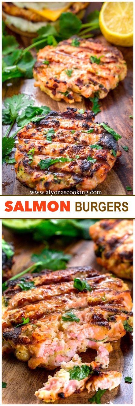 Easy Homemade Salmon Burgers With Tarter Sauce