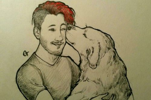 olyatravkinaa: And again sketch of Mark and Chica. Because they double cuteness together
