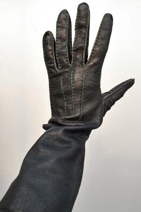 befff662f Vintage 1960s Bespoke Ladies Leather Gauntlet Gloves Vintage 1960s Bespoke Ladies  Leather Gauntlet Gloves [leather