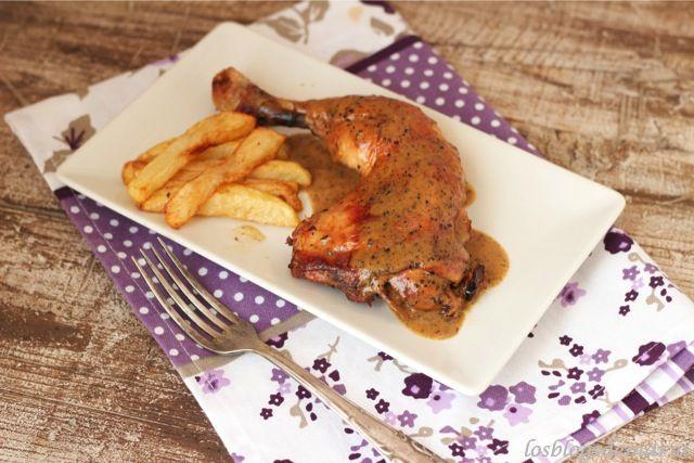 Cuartos traseros de pollo al horno con cerveza y verduras | Receta ...