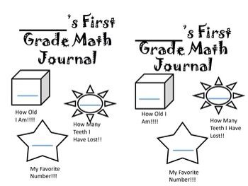 This First Grade Math Journal is: *65 TOTAL pages for