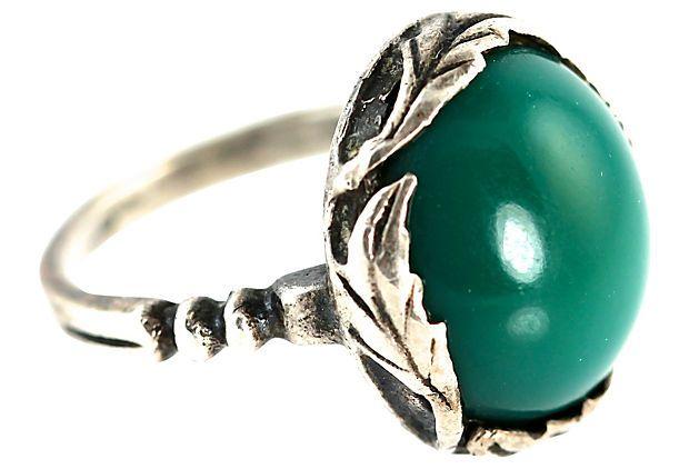 Art Nouveau Chrysoprase Ring on OneKingsLane.com