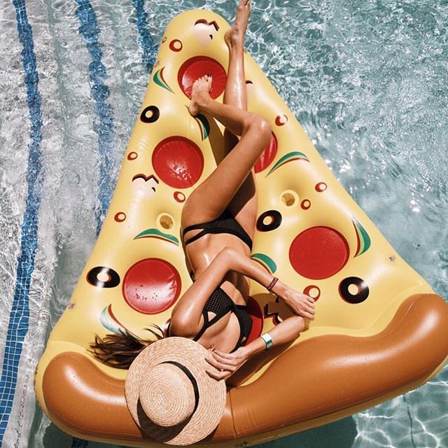 Vitamin A Wala Competition Pizza float is funny and cute and is a tad different from everything else on their page. Summer smiles can be good.