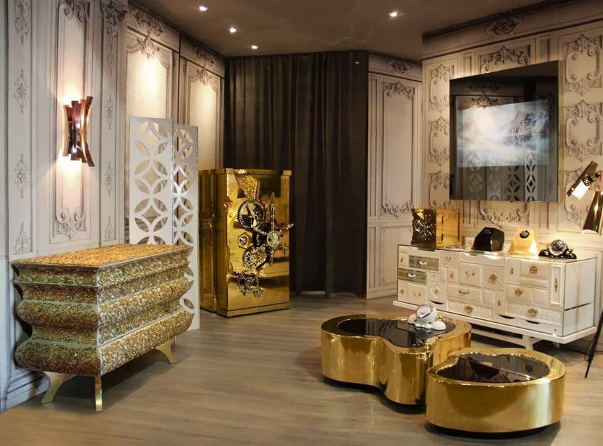 boca do lobo stand at isaloni milan boca do lobo projects and interiors interior designers. Black Bedroom Furniture Sets. Home Design Ideas