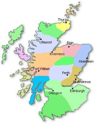 Mapa De Escocia Ullapool Glasgow Scotland
