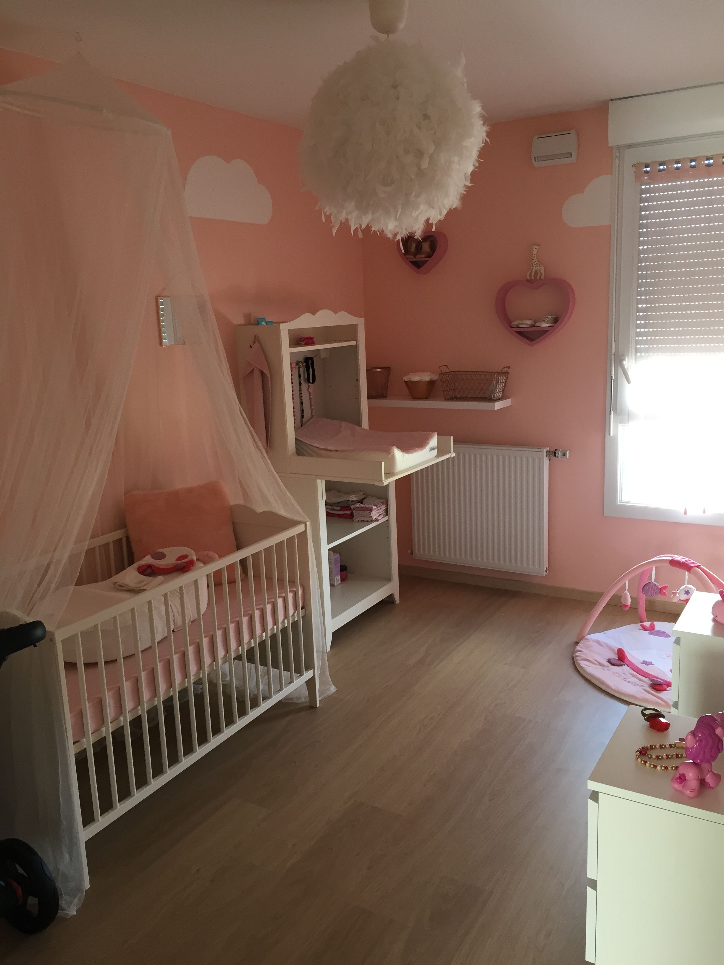 Cute Chambre Rose chamallow Th me nuage Mobilier Ikea Accessoires Sauthon collection Tess