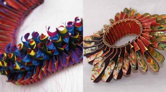 Bijuterii de hârtie realizate de Luis Acosta