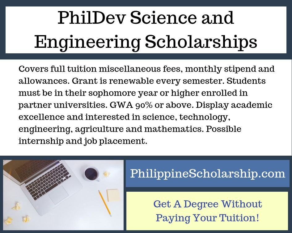 Phildev Science And Engineering Scholarships Financial Assistance In 2020 Scholarships Science Engineering