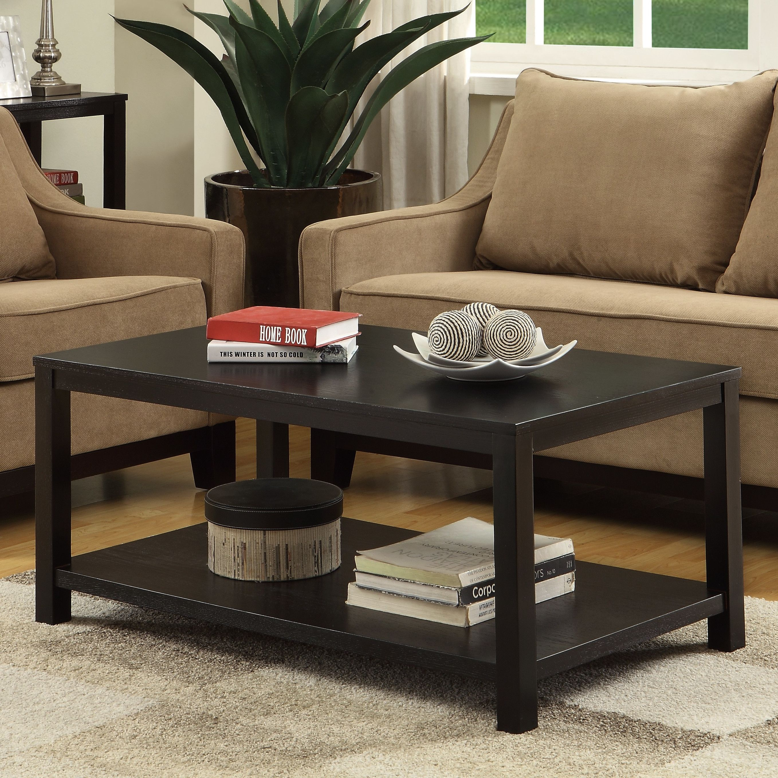 Crown heights solid wood coffee table with storage in 2020