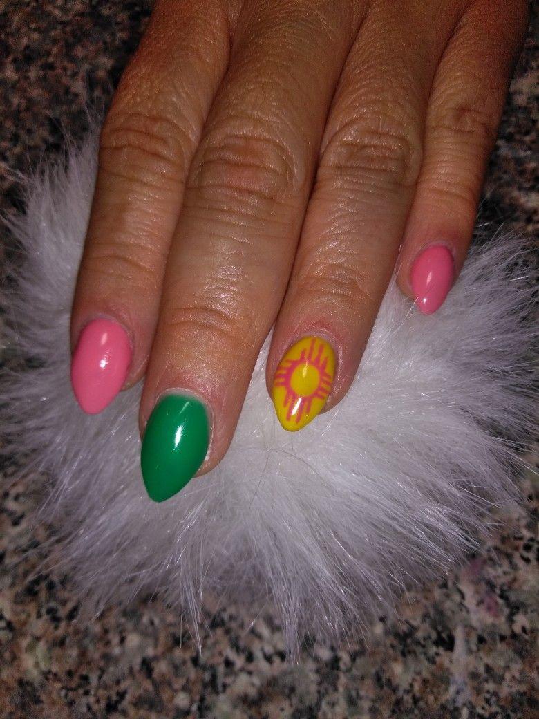 Zia nails Gelish Polygel Short almond nails Gel polish   cosmetology ...
