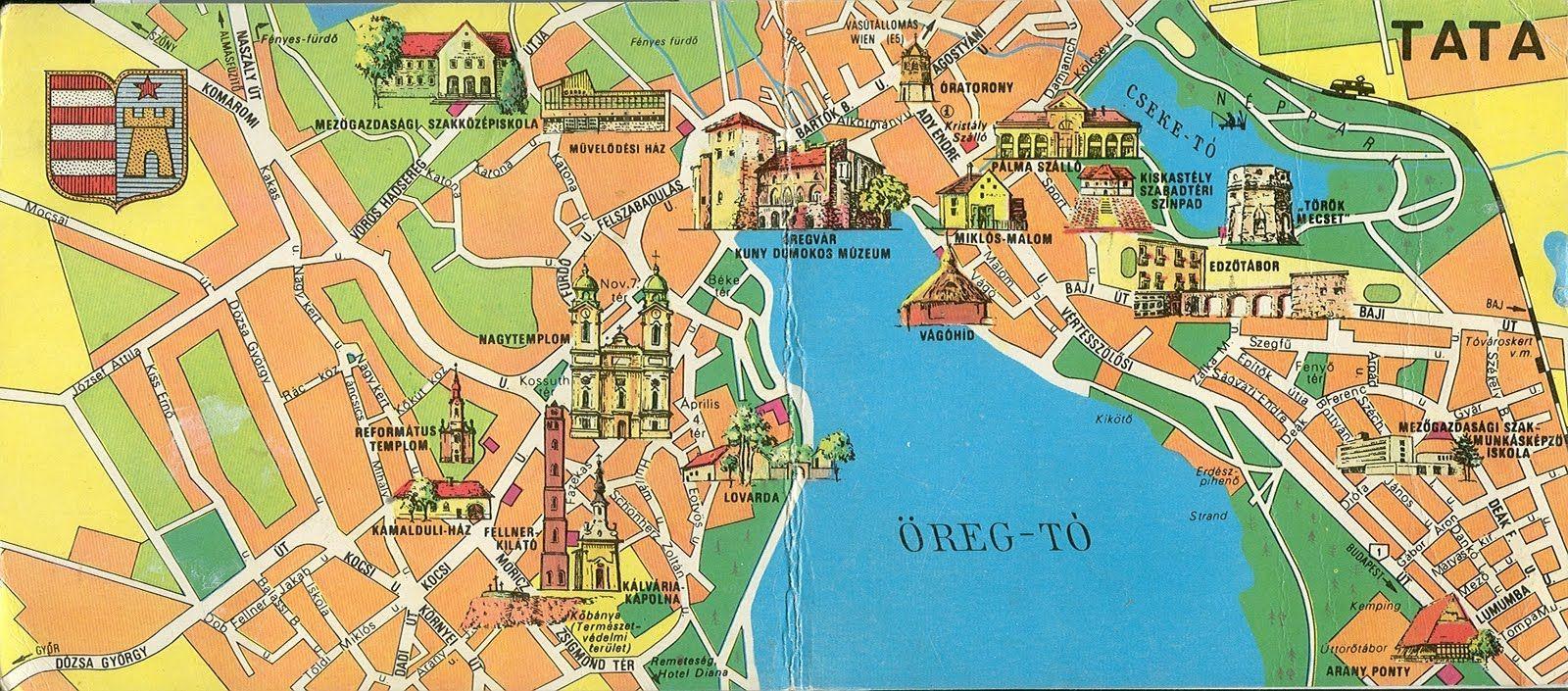 tata térkép látnivalók Tata (1600×705) | utazás | Pinterest tata térkép látnivalók