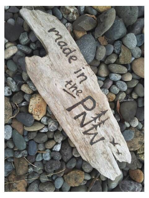 Pacific Northwest Burned Driftwood Wall Art Sign