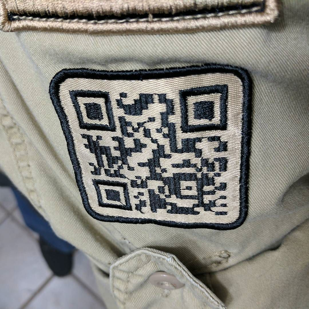 #embroidery Flashback I Digitized This When QR Codes Just