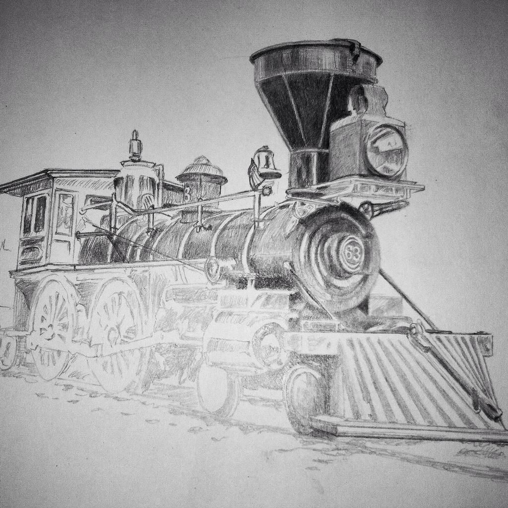 Update no. 3 of my graphite drawing of an 1860s-era steam ...
