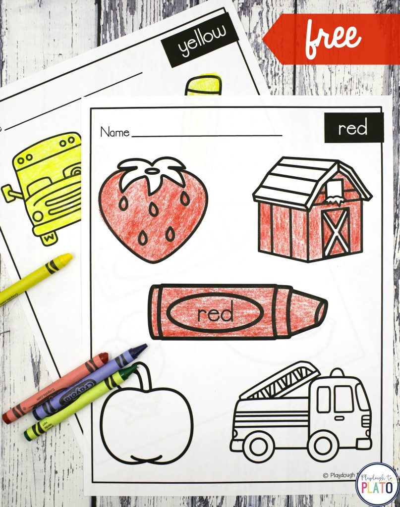 Coloring Sheets Playdough To Plato Learning Colors Preschool Teaching Colors Preschool Color Worksheets For Preschool [ 1024 x 807 Pixel ]
