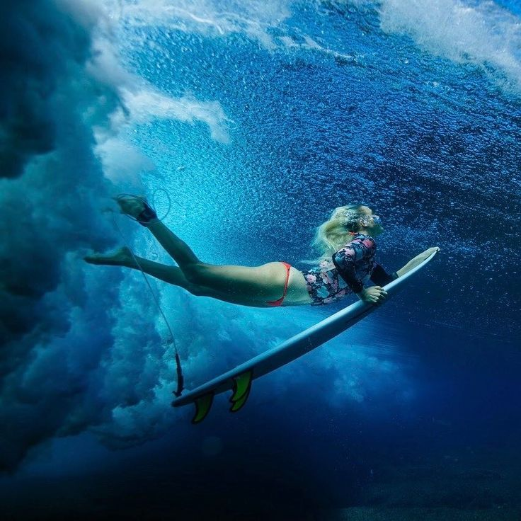 Girls Surfing Wallpaper: Resume Template Instant Download