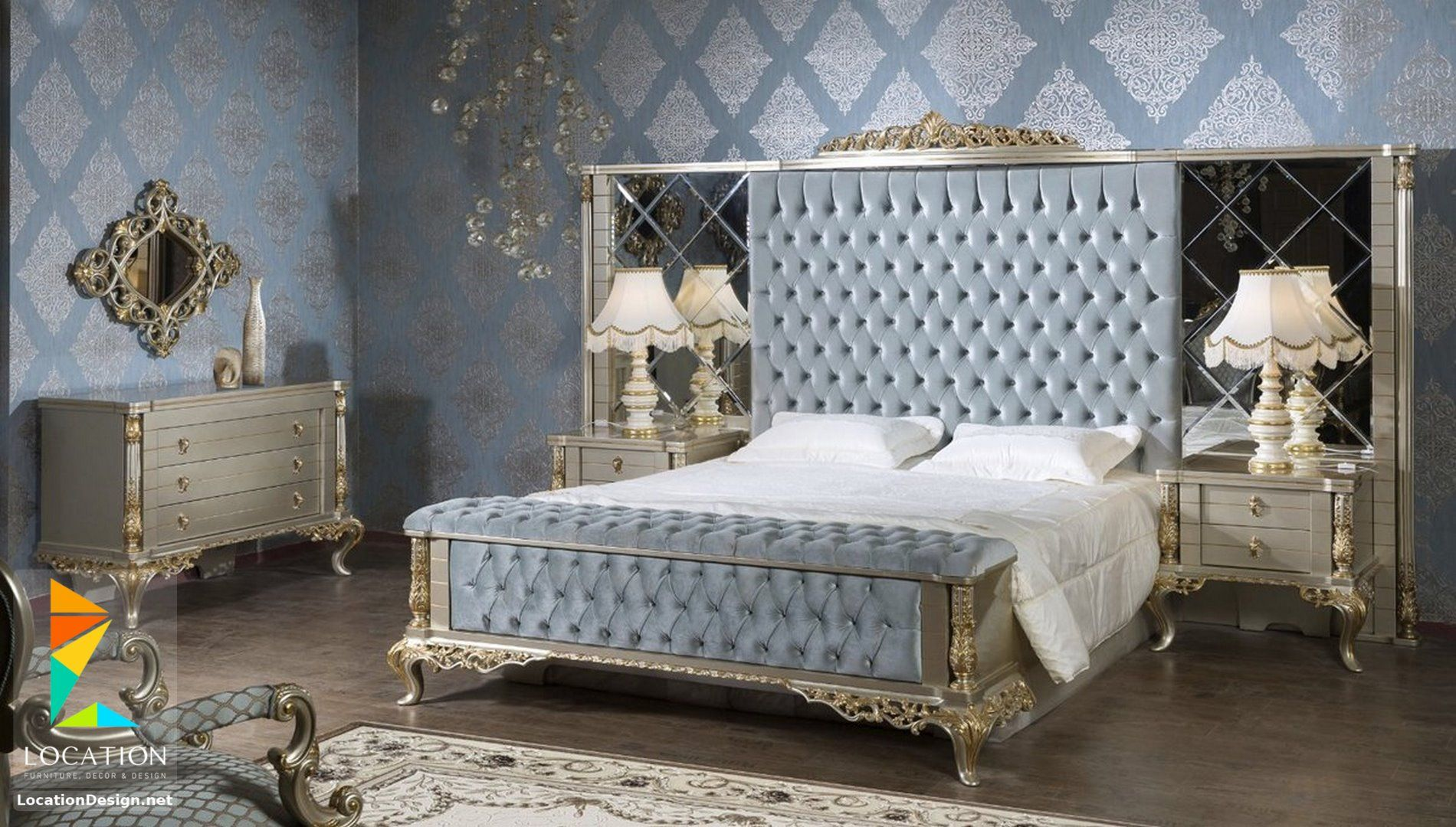 احدث موديلات و اشكال غرف نوم تركي 2019 2020 King Bedroom Furniture Luxurious Bedrooms Classic Bedroom