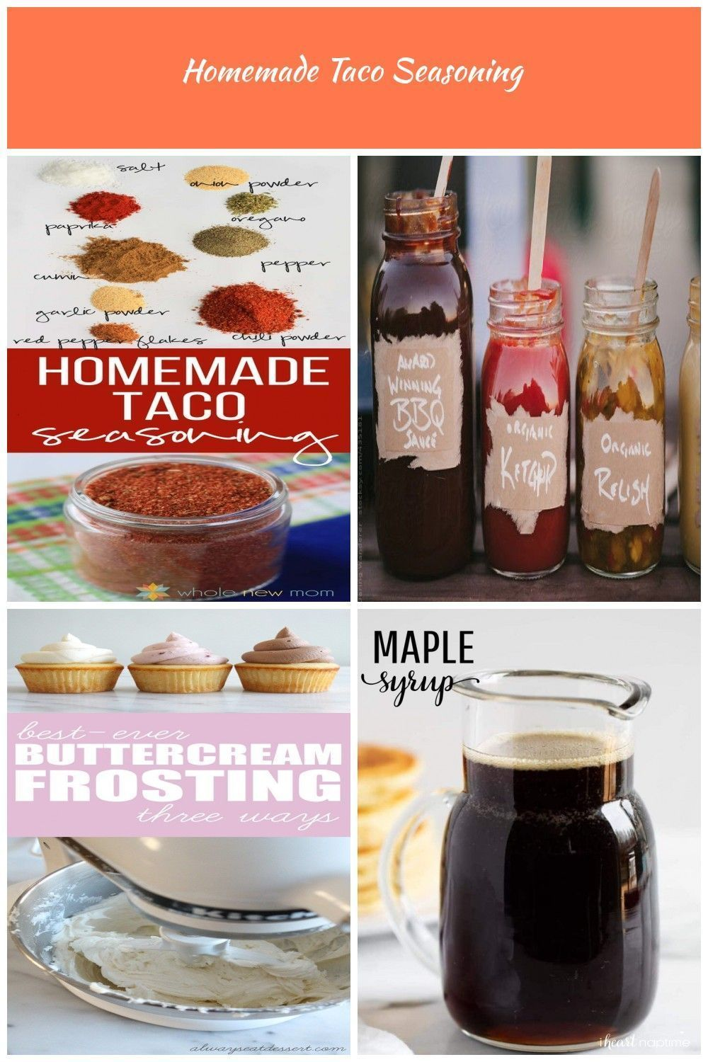 Never buy Taco Seasoning Again! This Homemade Taco Seasoning is easy to make, tastes great (on more than just tacos!) and has none of the fillers of the store bought version | DIY taco seasoning recipe | easy taco seasoning recipe | homemade taco seasoning || Whole New Mom #tacoseasoning Condiments Homemade Taco Seasoning #diytacoseasoning Never buy Taco Seasoning Again! This Homemade Taco Seasoning is easy to make, tastes great (on more than just tacos!) and has none of the fillers of the store #diytacoseasoning