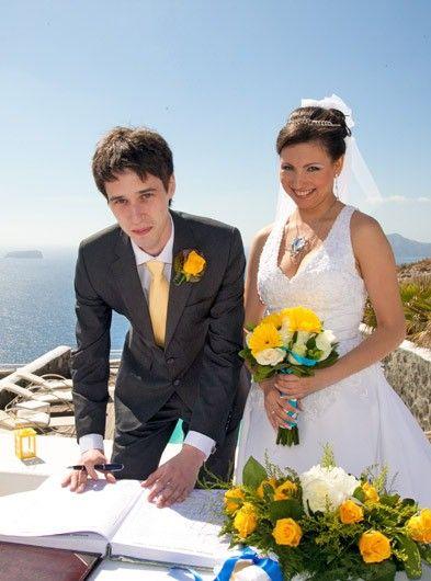 civil wedding ceremony packages #Santorini #weddings