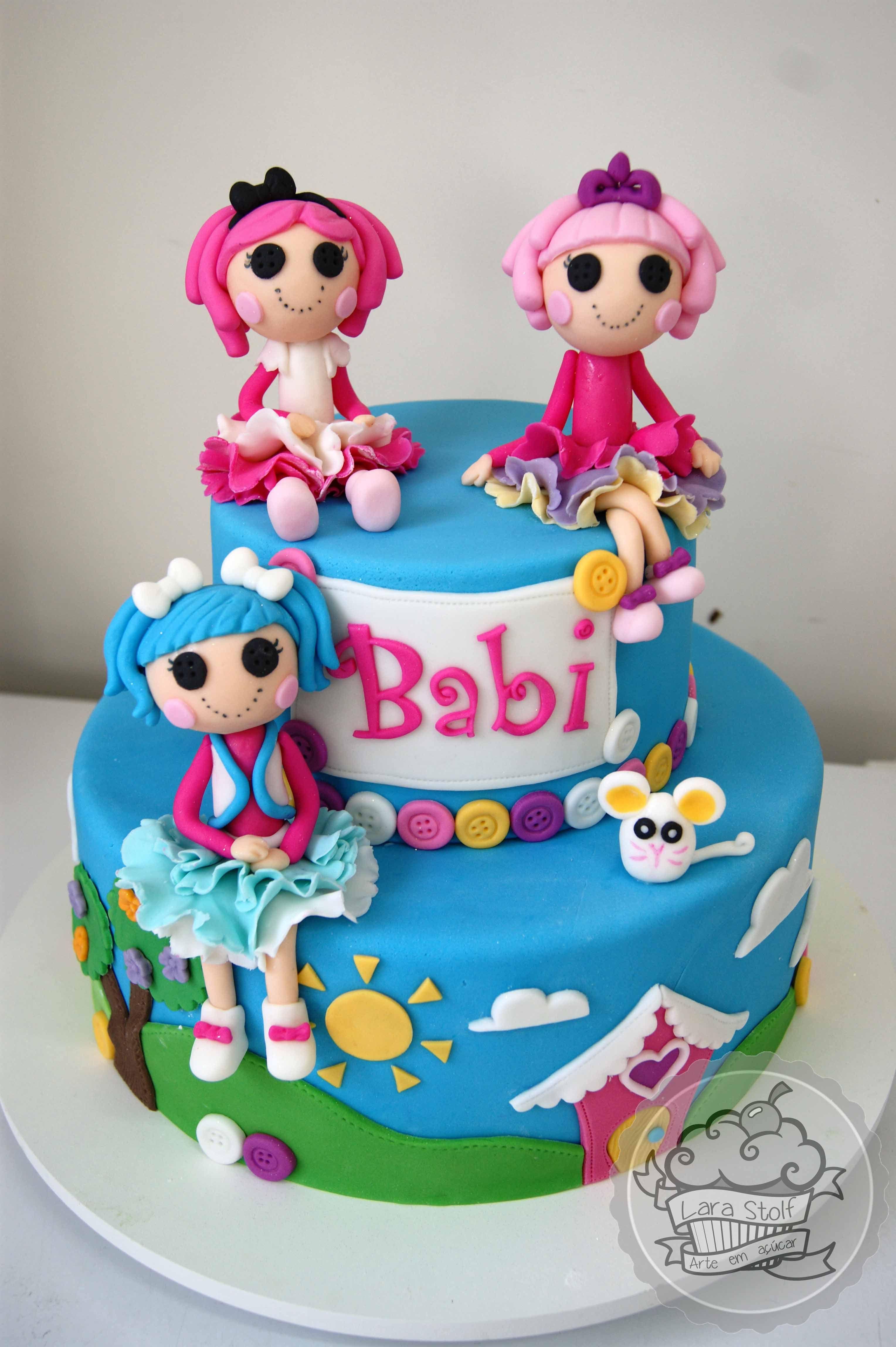 Lalaloopsy Cake With Edible Decorations Bolo Lalaloopsy Com