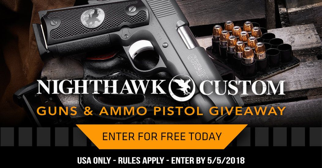 Nighthawk Custom Guns & Ammo Pistol Giveaway #gunsammo