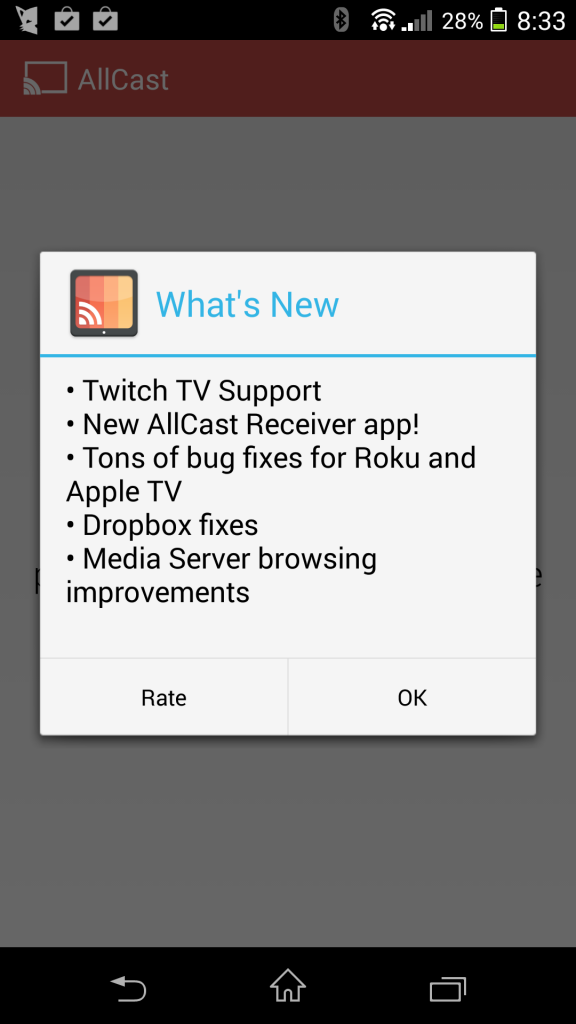 AllCast Picks up Twitch.TV Support; AllCast Receiver Goes
