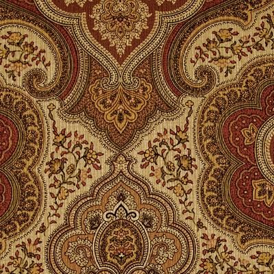 Duralee Pattern #:42070-136 Color Name: SPICE Book #2727 : Paisley Print Collection