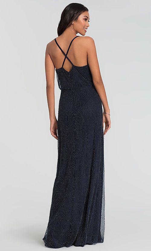 b16cdbd1e5 Long Beaded Kleinfeld Bridesmaid Dress  Limited Availability in 2019 ...
