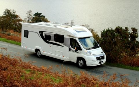 The Bessacarr E582 Motorhome With Its Low Profile Luton Streamline
