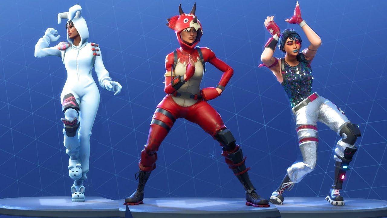 Fortnite All Dances Season 1 To 4 Youtube Fortnite Epic Games Justice Dance