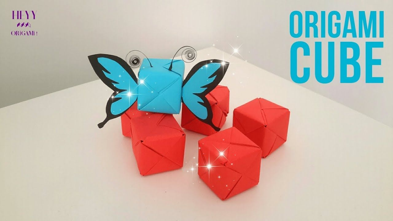 3d Origami Cube How To Make Paper Modular Origami Cube Origami Cube Origami Origami Art