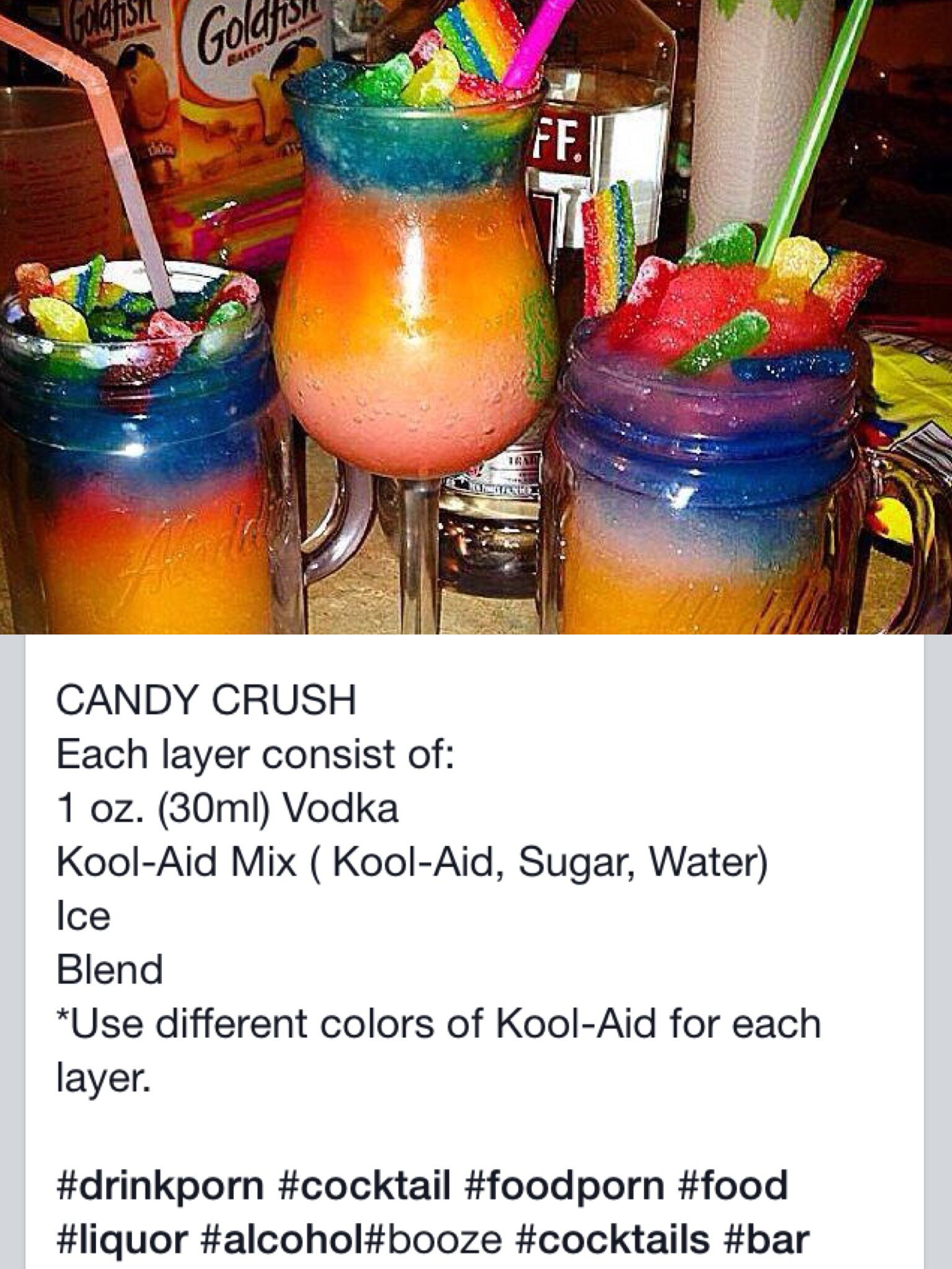 Candy Crush Slushie Cocktail ! ✨   Tipsy Bartending (;   Pinterest ...