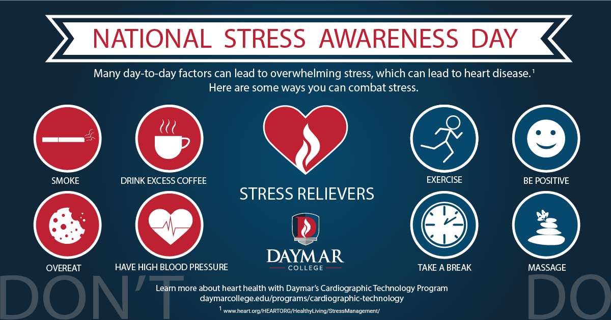 It's National Stress Awareness Day. Here are a few tips to