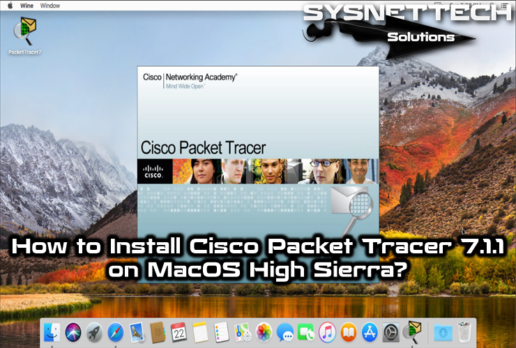 how to install cisco packet tracer on mac