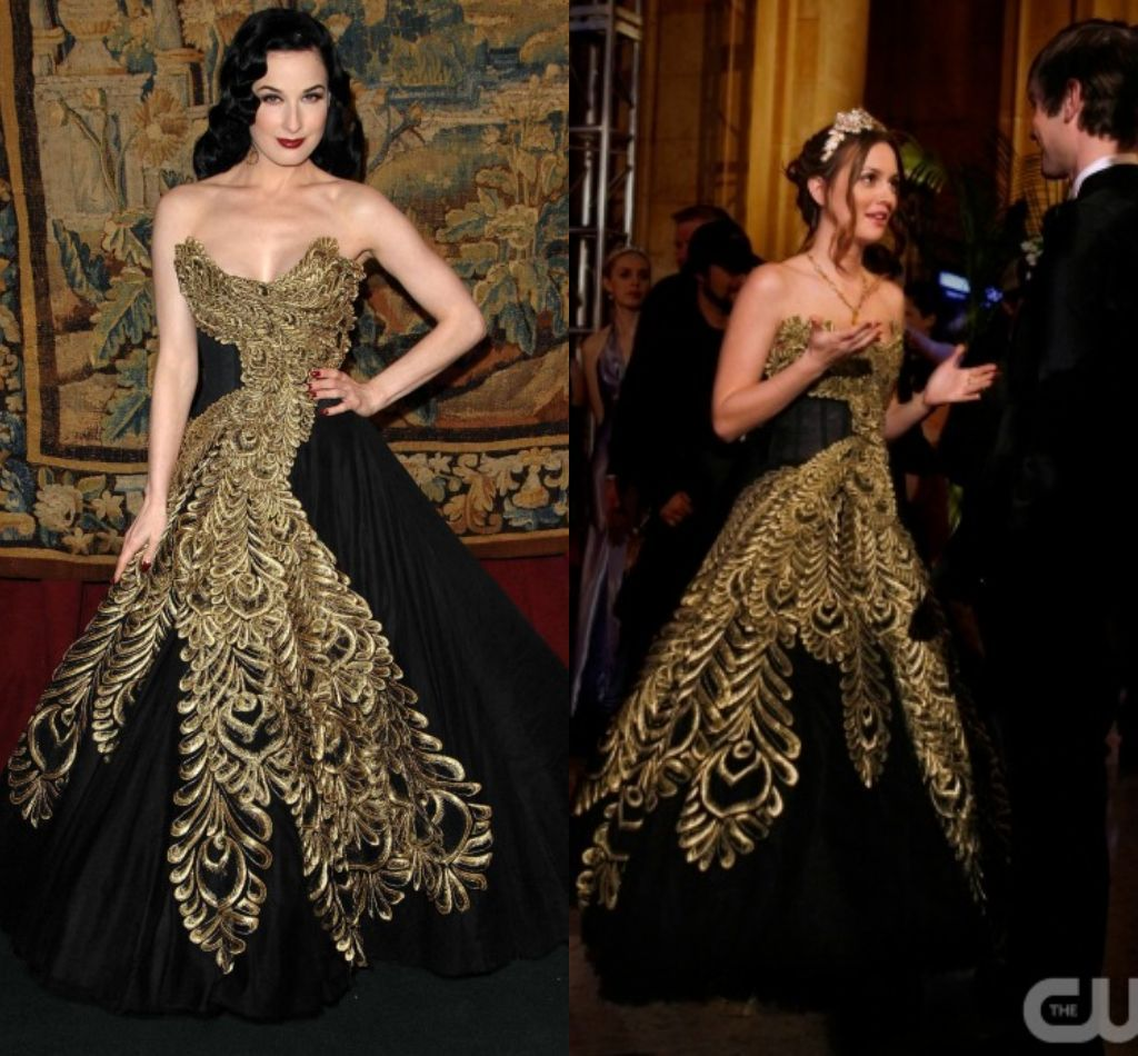 Gold Peacock Dresses