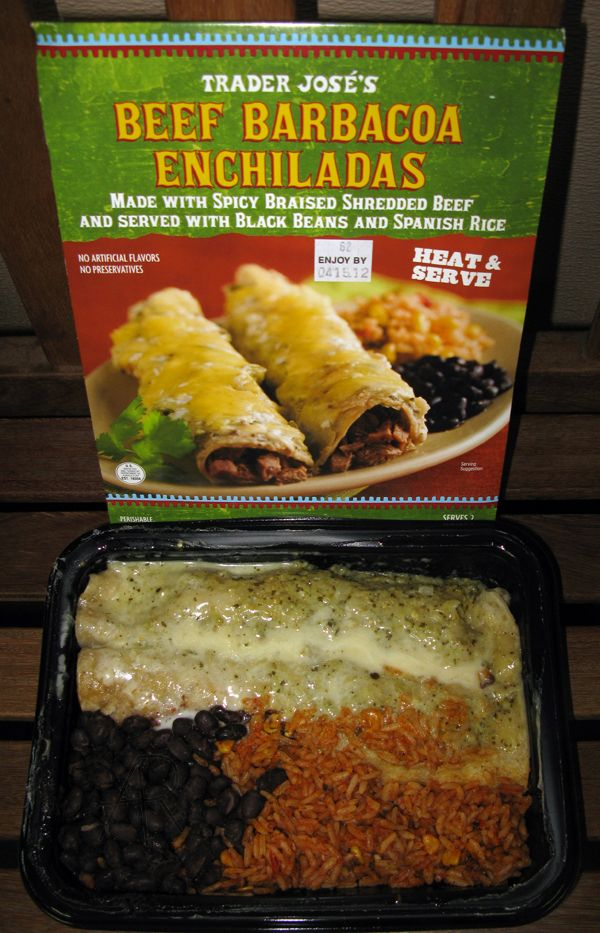 Trader Joes Beef Barbacoa Enchiladas Quick To Make Extremely
