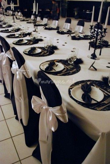 Mariage noir et blanc de toile de rose photo 44 deco for Deco de table noir et rose