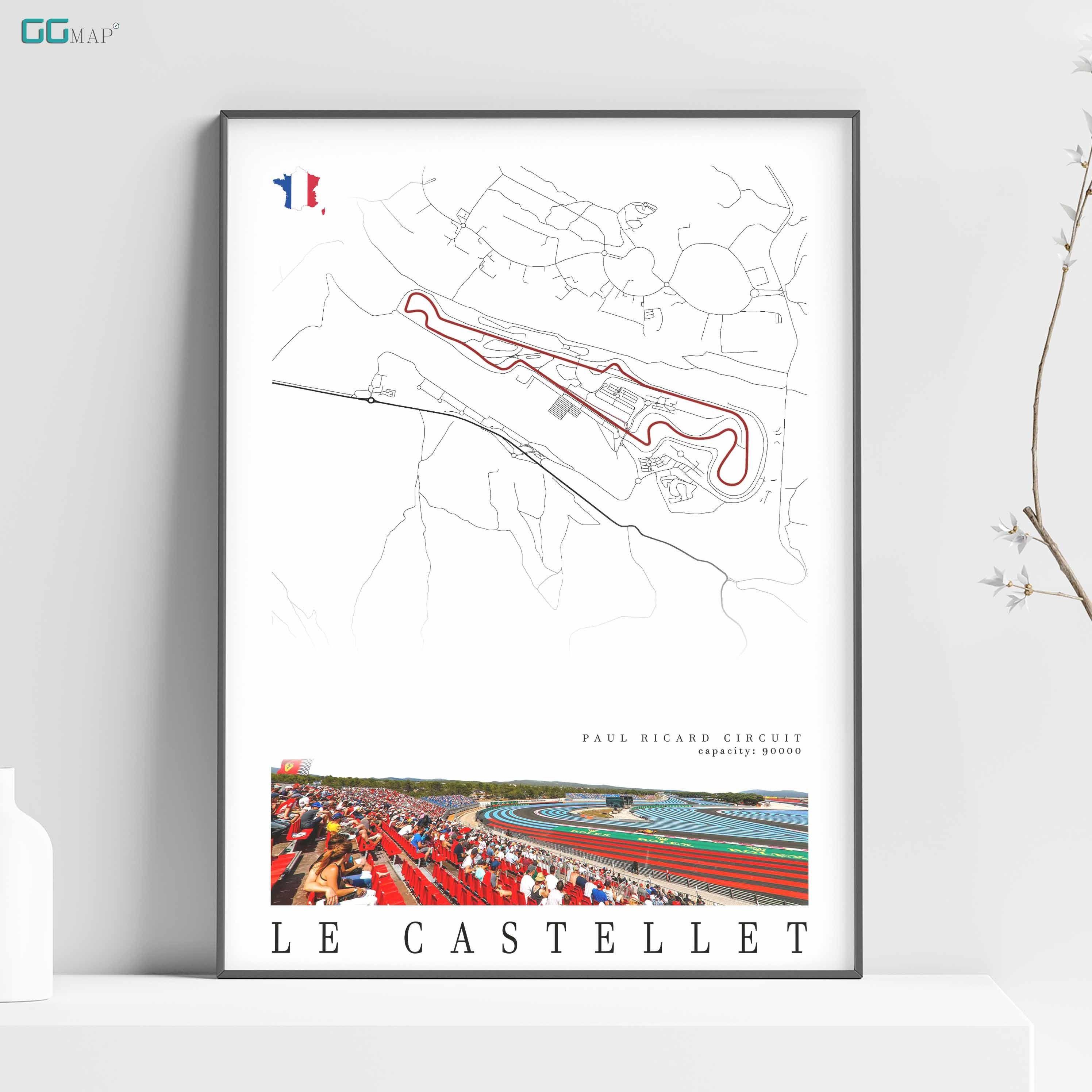 City Map Of Le Castellet Circuit Paul Ricard Home Decor Le