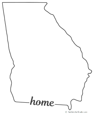 photo relating to Printable State Outlines known as Ga - Map Define, Printable Country, Form, Stencil