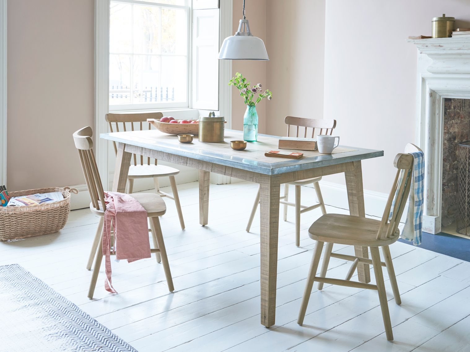 kitchen zinc table with our natterbox chairs dining table zinc dining tables dining table in on kitchen zinc id=95728