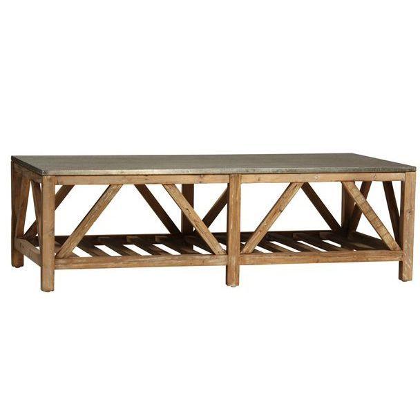 Topsail Zinc Coffee Table 55 L X
